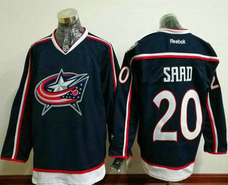 Men's Stitched NHL Columbus Blue Jackets #20 Brandon Saad Navy Blue Home Reebok Hockey Jersey