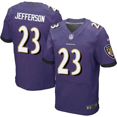Nike Stitched Ravens #23 Tony Jefferson Purple Team Color Men's NFL New Elite Jersey