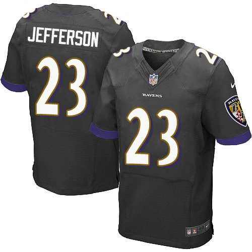 Nike Stitched Ravens #23 Tony Jefferson Black Men's NFL New Elite Jersey