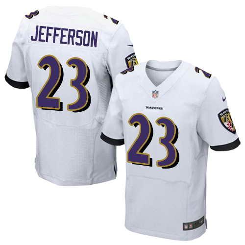 Nike Stitched Ravens #23 Tony Jefferson White Men's NFL New Elite Jersey
