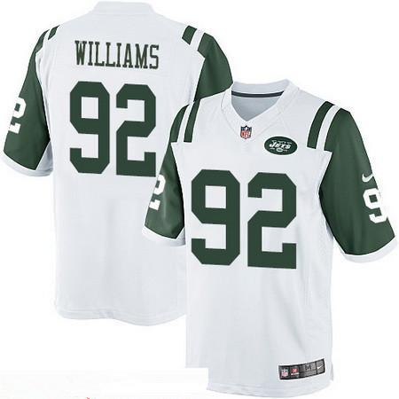 Men's Stitched New York Jets #92 Leonard Williams White Stitched NFL Nike Game Jersey