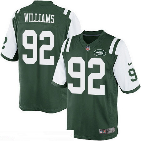 Men's Stitched New York Jets #92 Leonard Williams Green Team Color Stitched NFL Nike Game Jersey
