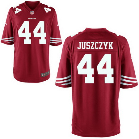 Men's Stitched 2017 NFL Draft San Francisco 49ers #44 Kyle Juszczyk Scarlet Red Team Color NFL Nike Game Jersey