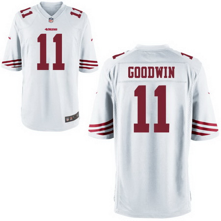 Men's Stitched 2017 NFL Draft San Francisco 49ers #11 Marquise Goodwin White NFL Nike Game Jersey