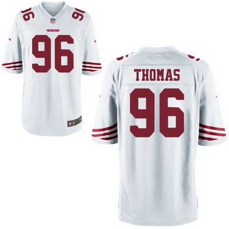 Men's Stitched 2017 NFL Draft San Francisco 49ers #96 Solomon Thomas White NFL Nike Game Jersey