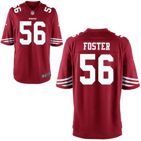 Men's Stitched 2017 NFL Draft San Francisco 49ers #56 Reuben Foster Scarlet Red Team Color NFL Nike Game Jersey