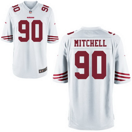 Men's Stitched 2017 NFL Draft San Francisco 49ers #90 Earl Mitchell White NFL Nike Game Jersey