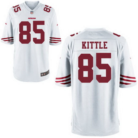 Men's Stitched 2017 NFL Draft San Francisco 49ers #85 George Kittle White NFL Nike Game Jersey
