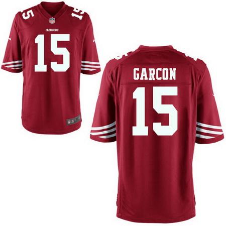 Men's Stitched 2017 NFL Draft San Francisco 49ers #15 Pierre Garcon Scarlet Red Team Color NFL Nike Game Jersey