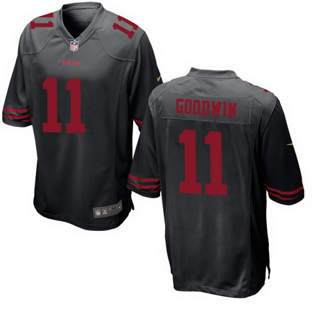 Men's Stitched 2017 NFL Draft San Francisco 49ers #11 Marquise Goodwin Black NFL Nike Game Jersey