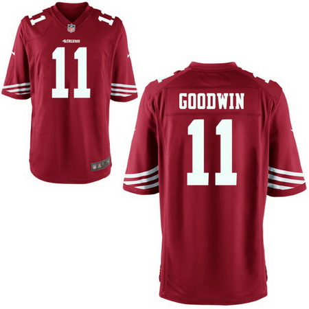 Men's Stitched 2017 NFL Draft San Francisco 49ers #11 Marquise Goodwin Red Team Color NFL Nike Game Jersey