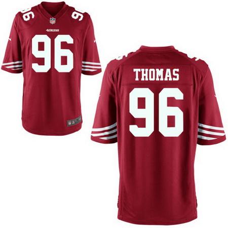 Men's Stitched 2017 NFL Draft San Francisco 49ers #96 Solomon Thomas Scarlet Red Team Color NFL Nike Game Jersey