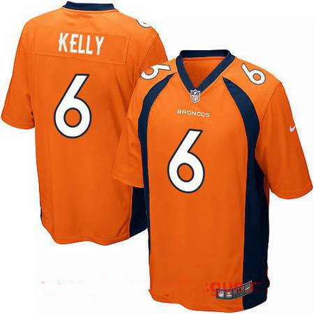 Men's Stitched Denver Broncos #6 Chad Kelly Orange Nike Elite Jersey