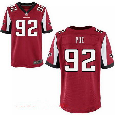 Men's Atlanta Falcons #92 Dontari Poe Stitched Red Nike Elite Jersey