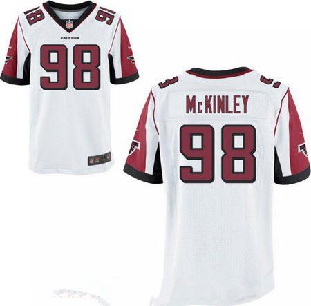 Men's 2017 NFL Draft Atlanta Falcons #98 Takkarist McKinley Stitched White Nike Elite Jersey
