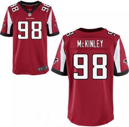 Men's 2017 NFL Draft Atlanta Falcons #98 Takkarist McKinley Stitched Red Nike Elite Jersey