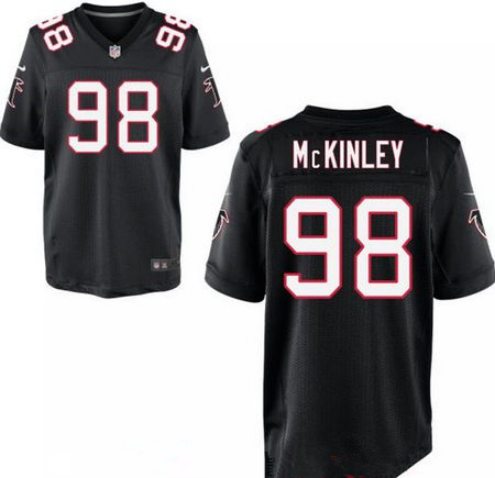 Men's 2017 NFL Draft Atlanta Falcons #98 Takkarist McKinley Stitched Black Nike Elite Jersey