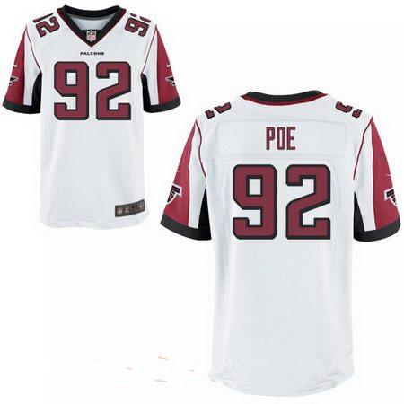 Men's Atlanta Falcons #92 Dontari Poe Stitched White Nike Elite Jersey
