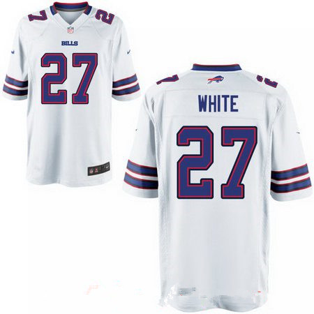 Men's 2017 NFL Draft Buffalo Bills #27 Tre'Davious White Stitched White Nike Elite Jersey