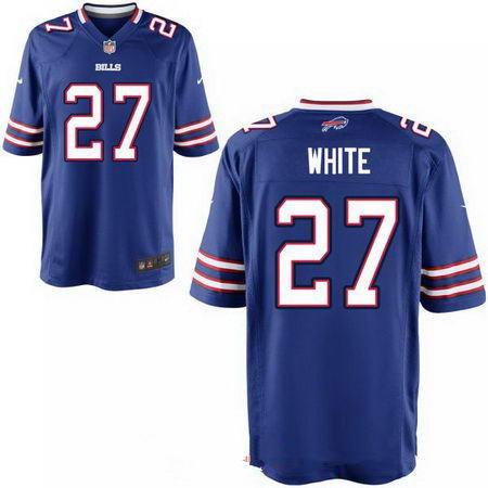 Men's 2017 NFL Draft Buffalo Bills #27 Tre'Davious White Stitched Royal Blue Nike Elite Jersey