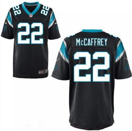 Men's 2017 NFL Draft Carolina Panthers #22 Christian McCaffrey Stitched Black Nike Elite Jersey