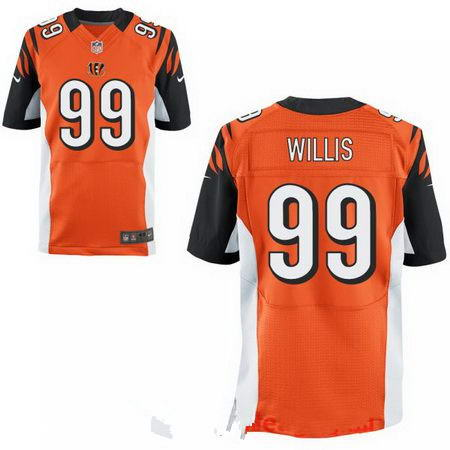 Men's 2017 NFL Draft Cincinnati Bengals #99 Jordan Willis Stitched Orange Nike Elite Jersey