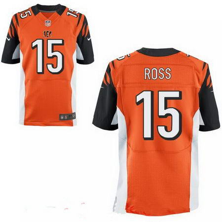 Men's 2017 NFL Draft Cincinnati Bengals #15 John Ross Stitched Orange Nike Elite Jersey