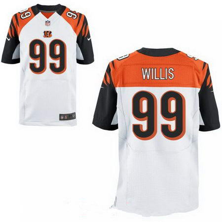 Men's 2017 NFL Draft Cincinnati Bengals #99 Jordan Willis Stitched White Nike Elite Jersey