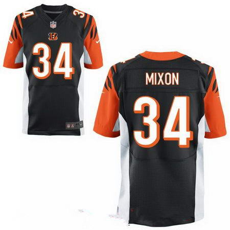 Men's 2017 NFL Draft Cincinnati Bengals #34 Joe Mixon Stitched Black Alternate Nike Elite Jersey
