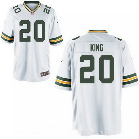 Men's 2017 NFL Draft Green Bay Packers #20 Kevin King Stitched White Nike Elite Jersey