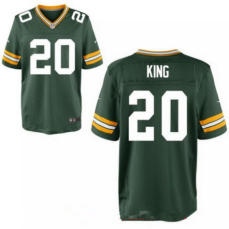 Men's 2017 NFL Draft Green Bay Packers #20 Kevin King Stitched Green Team Color Nike Elite Jersey