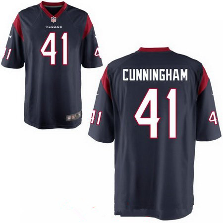 Men's 2017 NFL Draft Houston Texans #41 Zach Cunningham Stitched Navy Blue Nike Elite Jersey