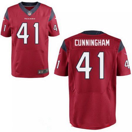 Men's 2017 NFL Draft Houston Texans #41 Zach Cunningham Stitched Red Nike Elite Jersey