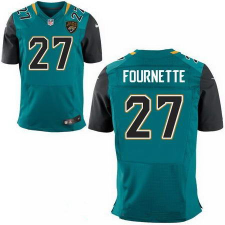Men's 2017 NFL Draft Jacksonville Jaguars #27 Leonard Fournette Stitched NFL Teal Green Team Color Nike Elite Jersey