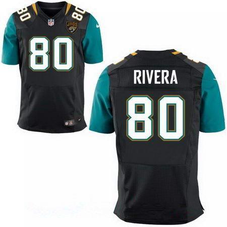 Men's Jacksonville Jaguars #80 Mychal Rivera Stitched Black Nike Elite Jersey