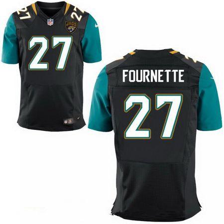 Men's 2017 NFL Draft Jacksonville Jaguars #27 Leonard Fournette Stitched Black Nike Elite Jersey