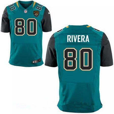 Men's Jacksonville Jaguars #80 Mychal Rivera Stitched NFL Teal Green Team Color Nike Elite Jersey