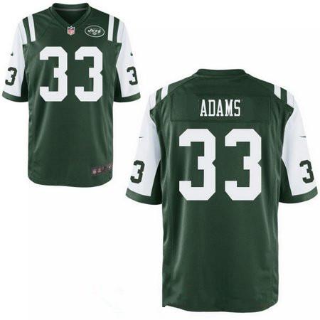 Men's 2017 NFL Draft New York Jets #33 Jamal Adams Stitched Green Team Color Nike Elite Jersey