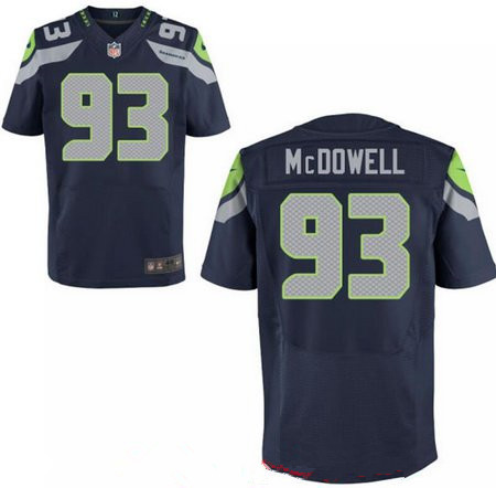 Men's 2017 NFL Draft Seattle Seahawks #93 Malik McDowell Stitched Navy Blue Team Color Nike Elite Jersey
