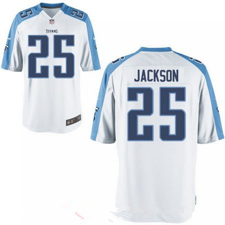 Men's 2017 NFL Draft Tennessee Titans #25 Adoree Jackson Stitched White Road Nike Elite Jersey