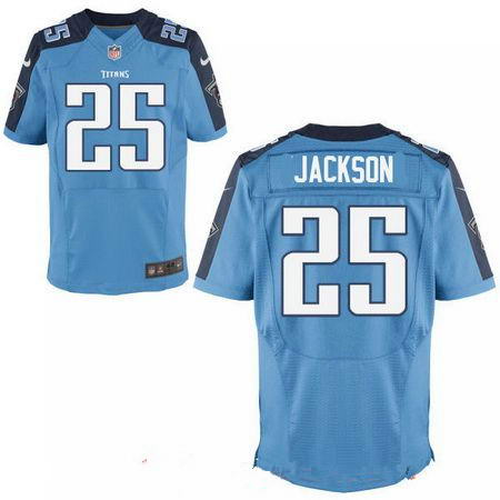 Men's 2017 NFL Draft Tennessee Titans #25 Adoree Jackson Stitched Light Blue Nike Elite Jersey