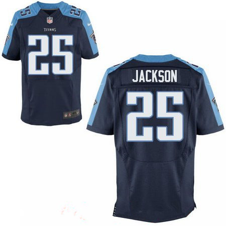 Men's 2017 NFL Draft Tennessee Titans #25 Adoree Jackson Stitched Navy Blue Nike Elite Jersey