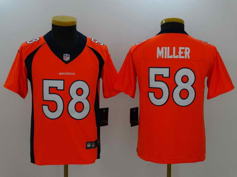 Youth Denver Broncos #58 Von Miller Orange Vapor Untouchable Nike Limited Stitched Jersey