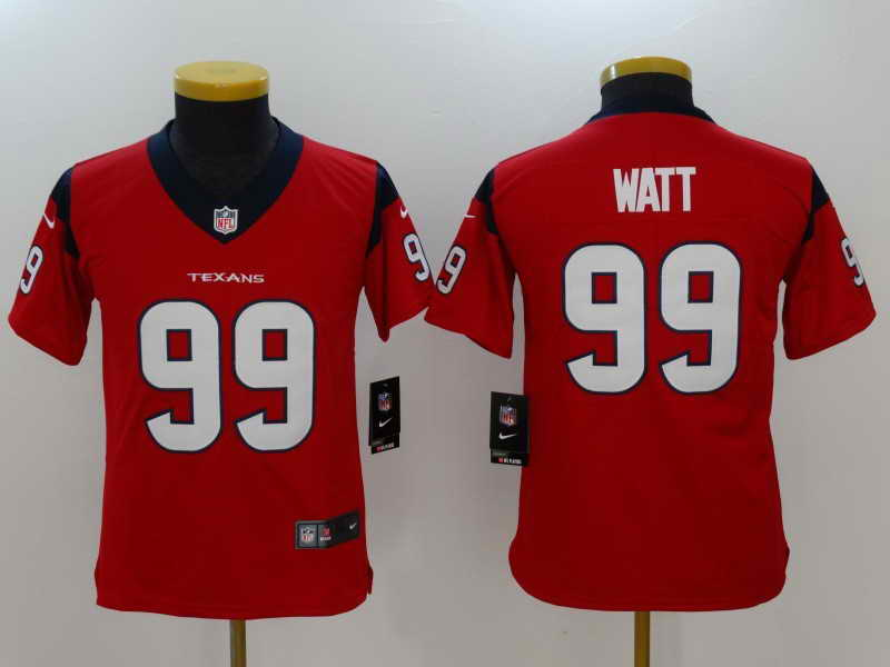 Youth Huston Texans #99 J.J. Watt Red Vapor Untouchable Player Nike Limited Stitched Jersey