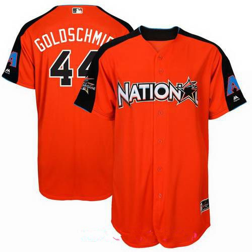 Men's Arizona Diamondbacks #44 Paul Goldschmidt National League Majestic Orange 2017 MLB All-Star Game Authentic Home Run Derby Jersey