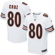 Men's Chicago Bears #80 Victor Cruz White Stitched Elite Jersey