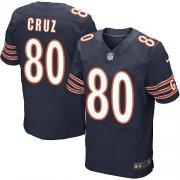 Men's Chicago Bears #80 Victor Cruz Navy Blue Stitched Elite Jersey