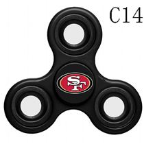 NFL San Francisco 49ers black Finger Spinner