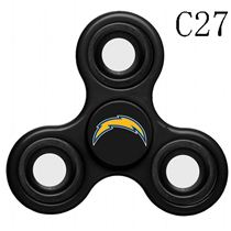 NFL Los Angeles Chargers black Finger Spinner
