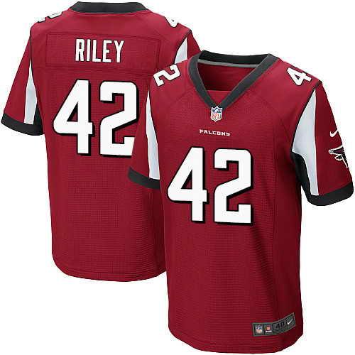 Men's Nike Atlanta Falcons #42 Duke Riley Red Stitched NFL Elite Jersey